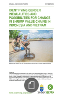 GRAISESA - Identifying Gender Inequalities And Possibilities For Change In Shrimp Value Chains In Indonesia And Vietnam